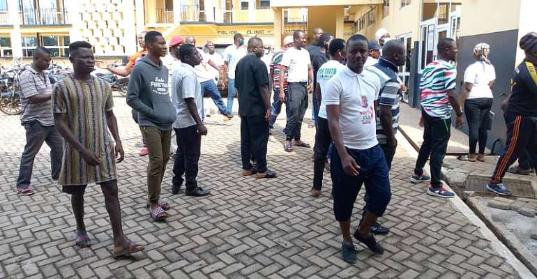 A/R: NDC Mass Up At Police Headquarters After Arrest Of Colleagues