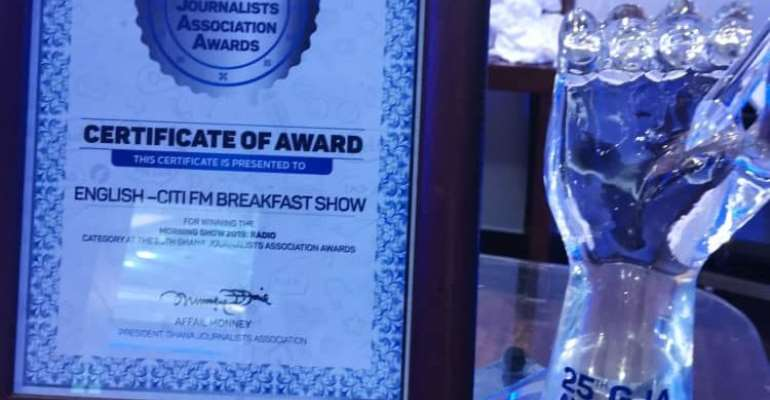 Citi Breakfast Show Wins Best English Morning Show The Fourth Time