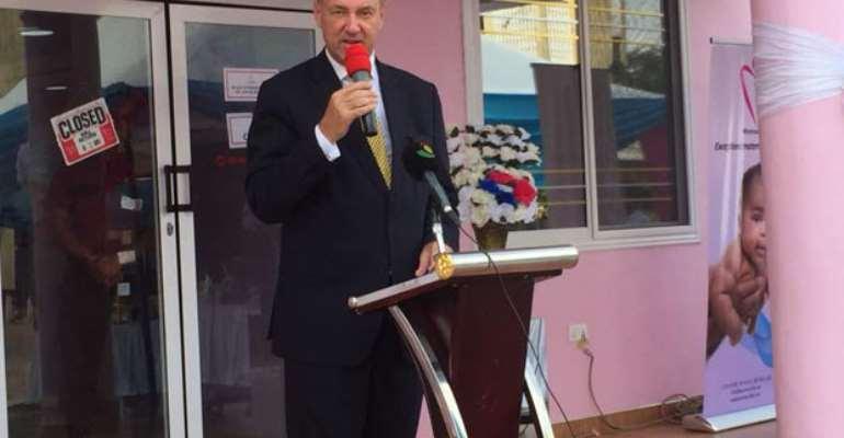 Ambassador Ron Strikker speaking at the event
