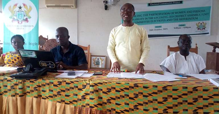 Participation Of Women, PWDS In Upcoming 2019 District Elections, Referendum