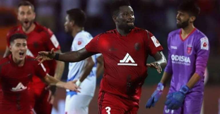 Asamoah Gyan Off The Mark In Indian Super League With Match-Winning Strike