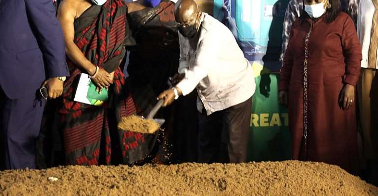 Akufo-Addo Cuts Sod For TemaSewer NetworkAnd Ashaiman Solid Waste Plant