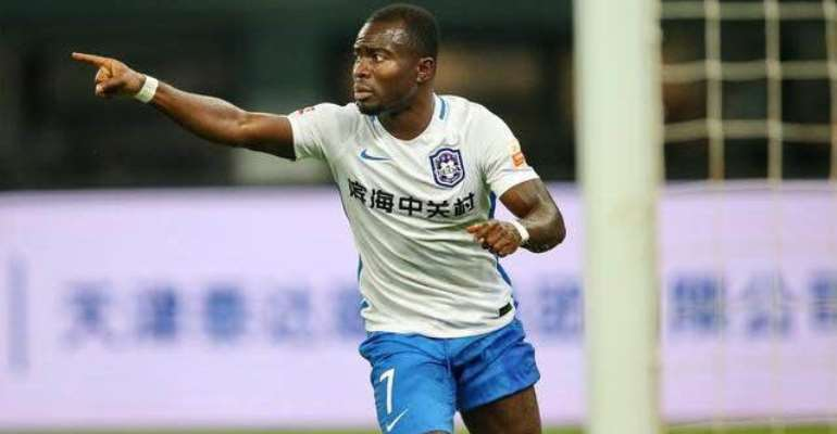 Frank Acheampong Nets Brace To Inspire Tianjin TEDA To Victory Over Dalian Pro