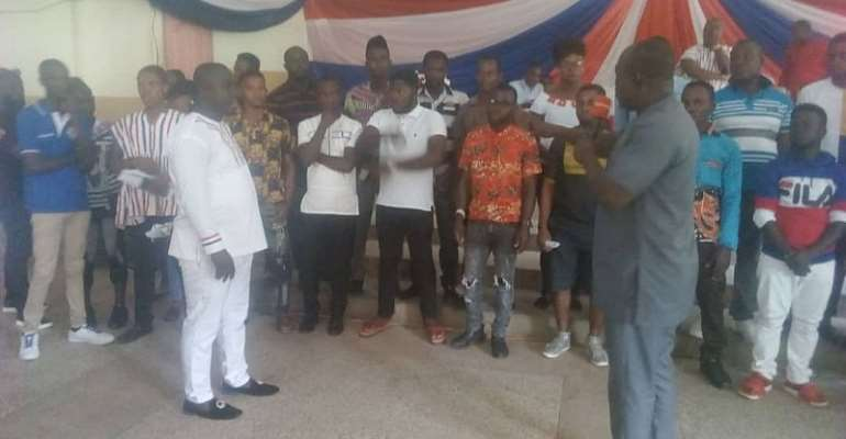 NPP Inaugurates Youth Wing In Prestea Huni-Valley Constituency