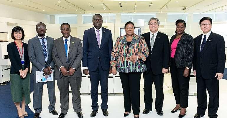 Rebecca Akufo-Addo Congratulates Sysmex Japan For Early Malaria Detection Machine
