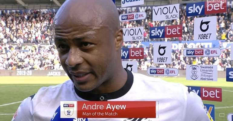 Andre Ayew Named Man Of The Match In Swansea City Win Over Cardiff