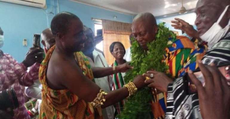 Ada: Mahama Installed As Nene Kabo Odey Peo I