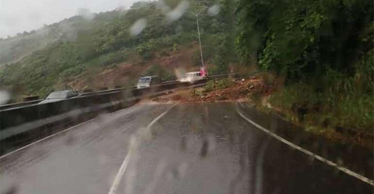 Peduase Lodge-Ayi Mensah Road Closed