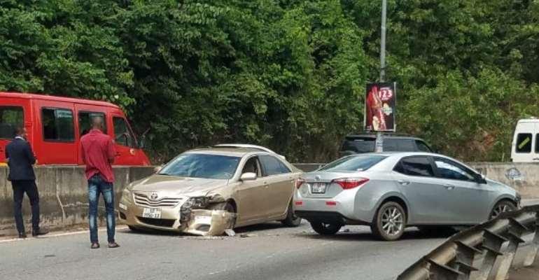 Car Crash On Ayi-Mensah-Aburi Highway