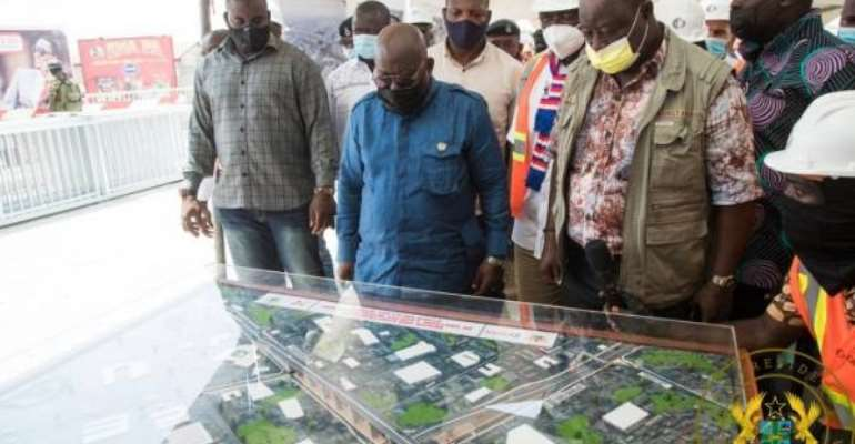 Obetsebi-Lamptey Interchange 92% Complete; Jamestown Fishing Harbour 15% Complete