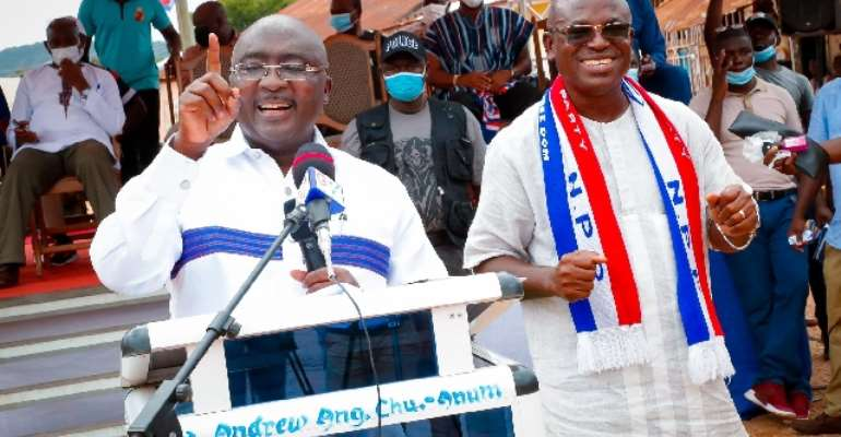 NDC Is Gov't Of 'Akonfem', Unequal Opportunity; NPP Is Gov't Of The Masses – Bawumia