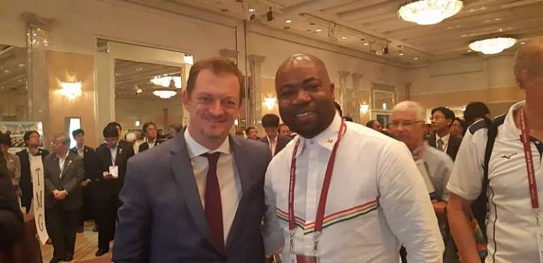 National Paralympic Committee President Samson Deen In Bonn Germany For IPC General Assembly