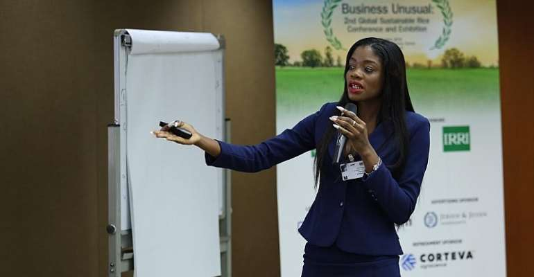 Ghanaian Top Model Prisca Abah Speaks At Sustainable Rice Platform Conference In Thailand