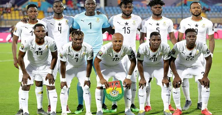 The Black Stars of Ghana players