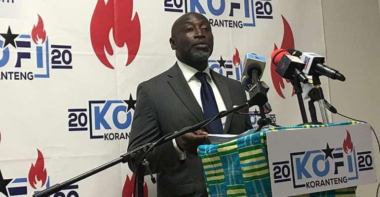 Disqualified Independent Presidential Aspirant, Mr. Kofi Koranteng