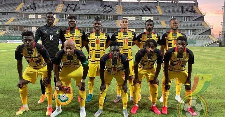 Ghana team photo before Qatar friendly earlier this month