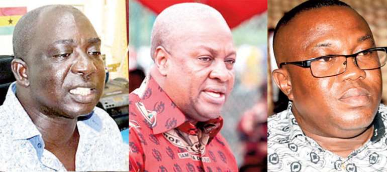 Tawia Boateng, John Mahama and Samuel Ofosu Ampofo