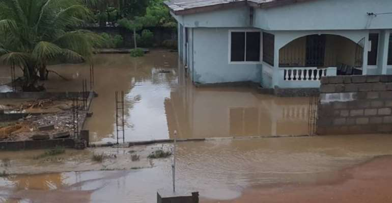 Cape Coast: People Trapped, Farms Submerged In Torrential Rain