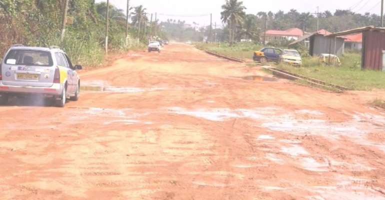 Angry Nkroful Residents Protest Bad Nkroful-Essiama Road