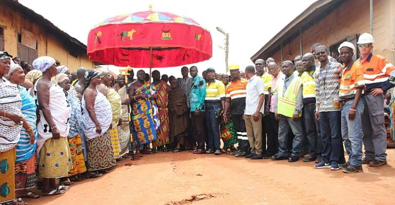 Newmont Goldcorp Constructs Town Roads Linking Ahafo Host Communities