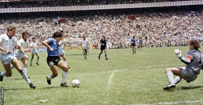 Diego Maradona's second goal against England at the 1986 World Cup is considered one of the greatest of all time