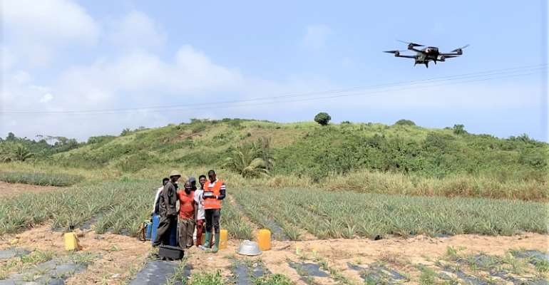 Drone Farming: How precision agriculture is transforming farmers livelihoods in Ghana