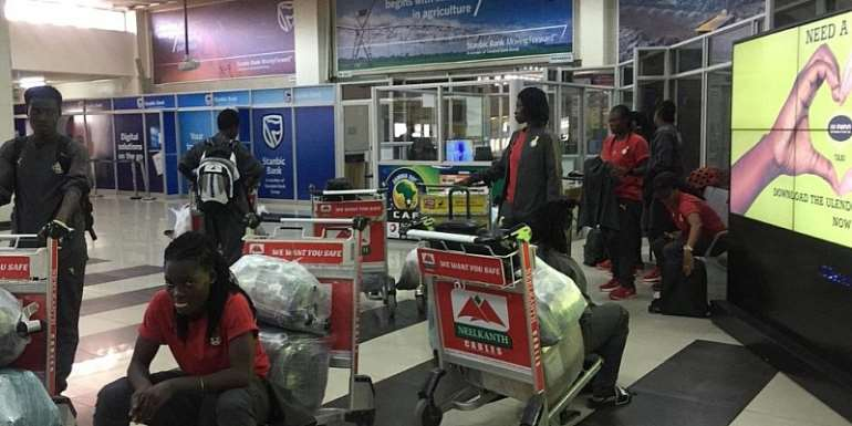 AFCON 2018: Black Queens Land In Lusaka To Prepare For Zambia Friendly