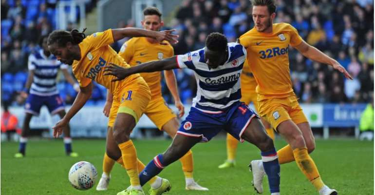 Ghana's Andy Yiadom Nominated For Player Of The Month Award At Reading