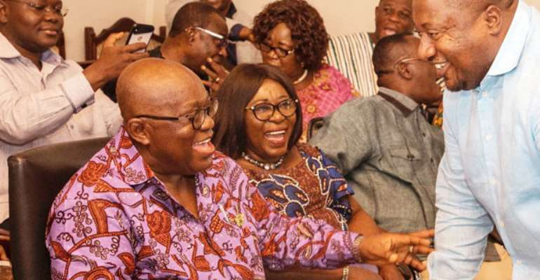 President Akufo-Addo interacting with Nana B at a recent public event