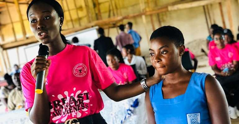 Physician Assistants Of Kintampo College Of Health Holds Breast Cancer Awareness For Students