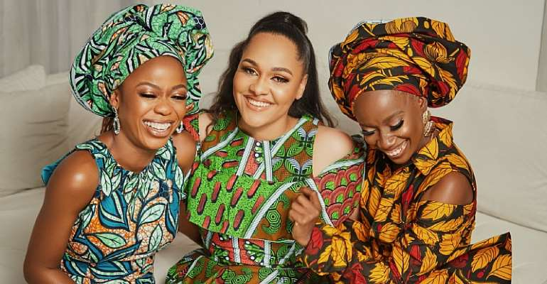 Juliana Olayode, Tania Omotayo, Soliat Bada and Mariam Adeyemi  come together to share their love for African Wax Print