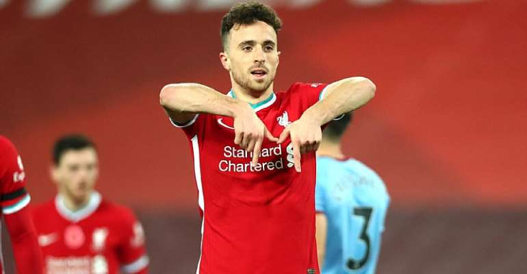 DIOGO JOTA OF LIVERPOOL CELEBRATES  IMAGE CREDIT: GETTY IMAGES