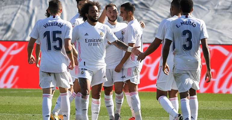 REAL MADRID CELEBRATE  IMAGE CREDIT: GETTY IMAGES
