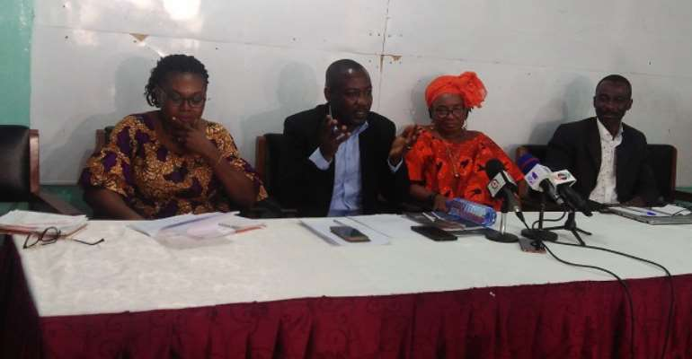 Dignitaries at the press conference