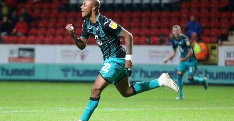 Andre Ayew Scores In Swansea City's Big Win Against Charlton Athletic
