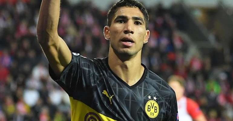 UCL: Hakimi Brace Gives Dortmund Win At Slavia Prague