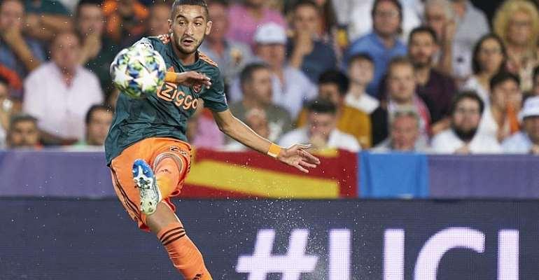 UCL: Ziyech Stunner Helps Ajax Ease Past Valencia