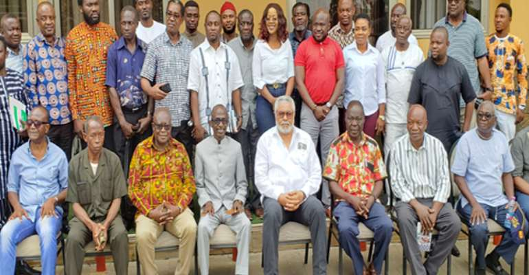 Rawlings in a group photograph with some of the Cadres