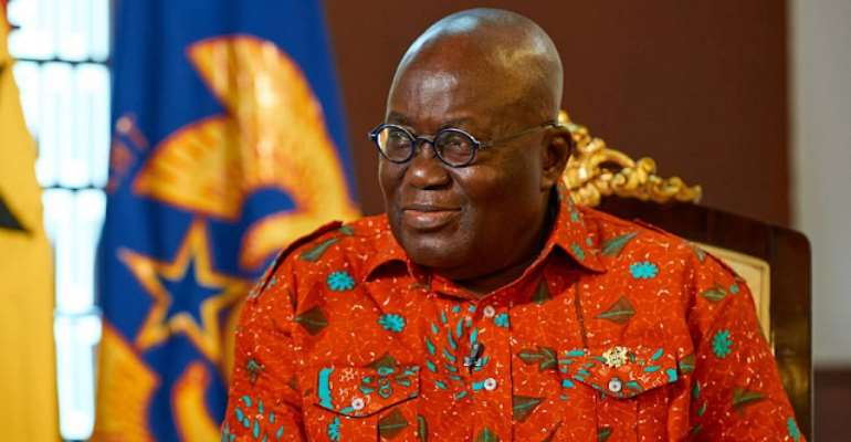 The Ghanaian leader, Nana Akufo Addo, photo credit Ghana media
