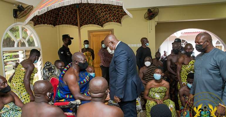 NPP wouldn't be in government if not for your support; thank you – Akufo-Addo to Asanteman