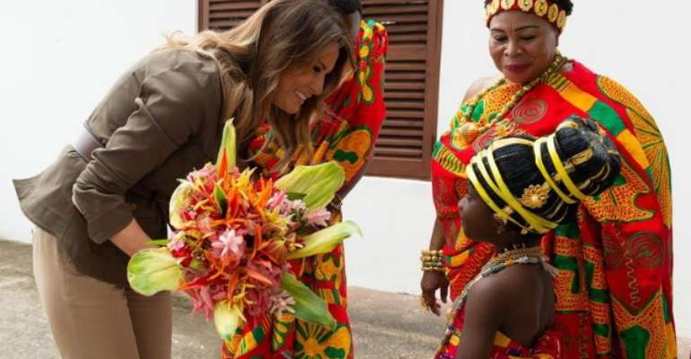Melania Trump Tours Cape Coast Castle