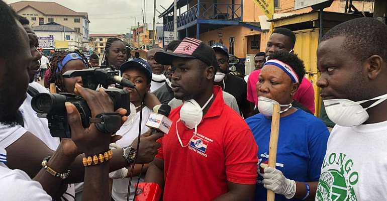 NPP New Juaben South Youth Wing Holds Clean-Up Exercise