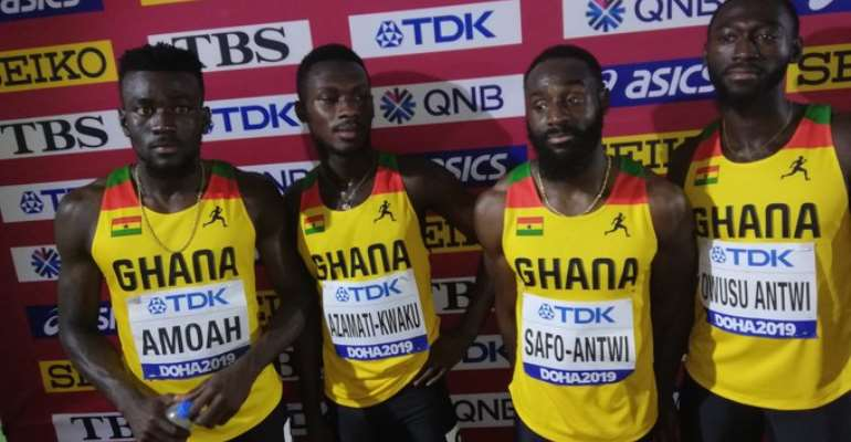 Doha 2019: Ghana Men's 4 x100m Relay Team Finish 6th To Miss Out On Final
