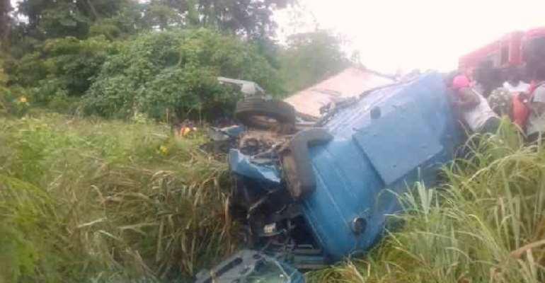 One Killed In Bullion Van, Fuel Tanker Crash At Techiman