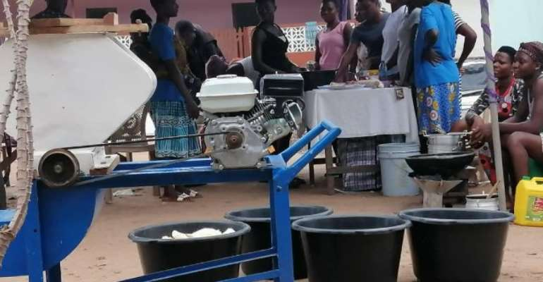 Nneka Youth Foundation Trains Teen Mothers In Cassava Processing