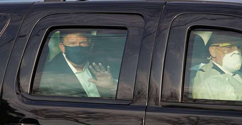 Trump Leaves Covid-19 Treatment Center To Greet Supporters Gathered Outside