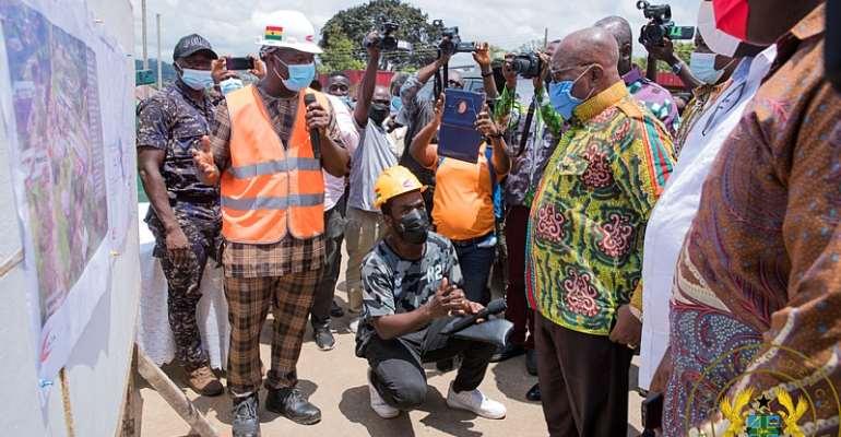 Akufo-Addo inspects €4 Million Atibie Hospital Project; $77 Million Mpraeso-Onyimso Road