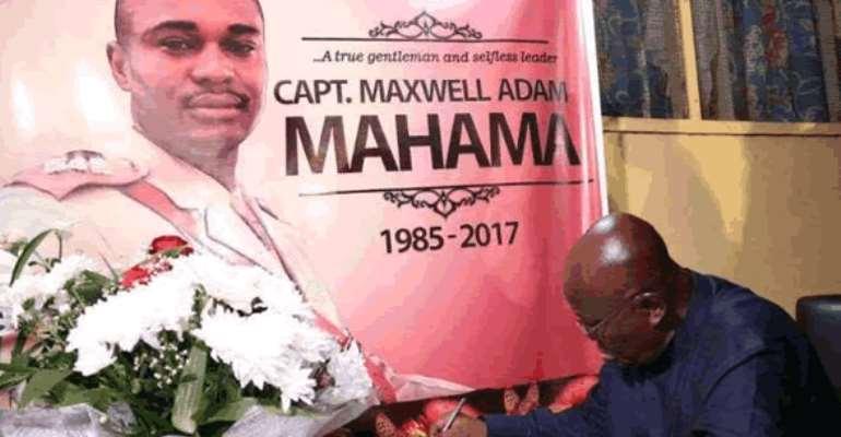 Tribute To Major Maxwell Adams Mahama