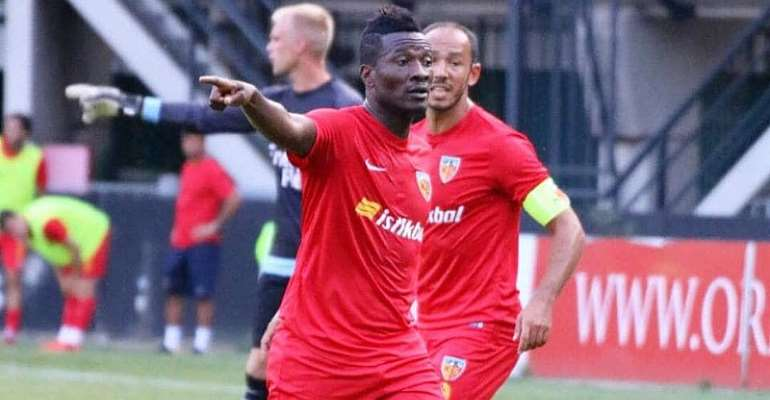 Kayserispor's Asamoah Gyan Gets Game Time Ahead Of Black Stars Return For 2019 AFCON Qualifiers