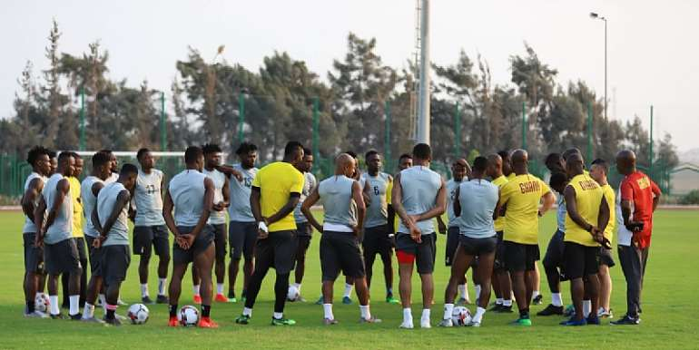 C.K Akonnor Takes Charge Of First Black Stars Training Session